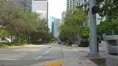 Brickell Avenue Miami FL Stock Footage
