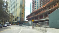 Brickell Bay Drive construction Stock Footage