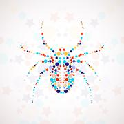 Stock Illustration of Abstract spider cartoon