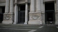 Papal Archbasilica of St. John in Rome, Italy Stock Footage