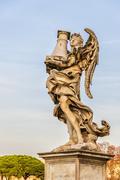 Rome Angel Statue on Bridge - stock photo