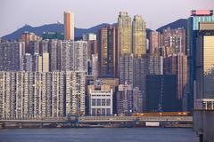 Beautiful HongKong cityscape - stock photo