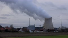 Nuclear power plant in Germany, time-lapse - stock footage