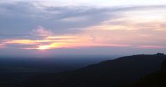 On Top of Mountain. Chapada dos Guimaraes, Brazil. Sunrise Sunset View. Stock Footage