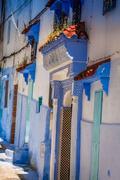Blue medina of Chechaouen, Morocco Stock Photos