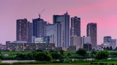 Kawasaki Skyline Stock Footage