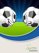 Soccer match advertisimg poster brochure - stock illustration