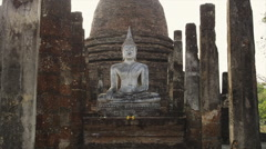 The ancient Historical Park of Sukhothai Stock Footage