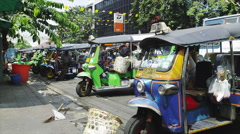 Life in the City of Bangkok Stock Footage
