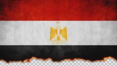 Burning Flag Egypt Stock Footage