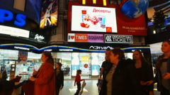 """buyers and people before Christmas in the mall """"Vegas"""" - stock footage"""