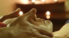 Man doing massage in spa salon Stock Footage