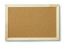 Blank cork notice board - stock photo