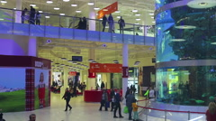 Aviapark-shopping and entertainment, located in Moscow - stock footage