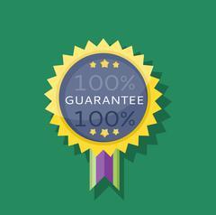 Badge Sticker Guarantee Design Flat Stock Illustration