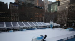 NYC Ice Rink Zamboni Stock Footage