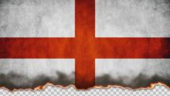 Burning Flag England Stock Footage