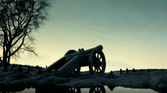 Old Cannon Fires - stock footage