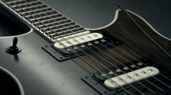 Close-up Of Electric Guitar Stock Footage