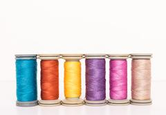Multi-colored threads Stock Photos