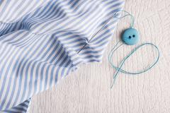 Sewing background. Accessories for needlework - stock photo
