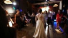 People dancing at the wedding dance floor - stock footage