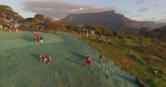 Aerial of Table Mountain, Cape Town, South Africa - stock footage