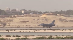 UAE F-16 fighting falcon at the 2016 Bahrain International Air Show Stock Footage