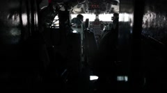A KC-135 Stratotanker crew conducts a refueling mission during Red Flag 16-1 Stock Footage