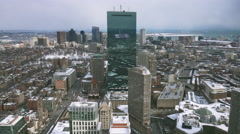 Boston Skyline Winter Stock Footage