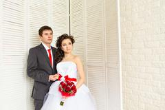 Beautiful wedding, husband and wife, lovers man woman, bride and groom Kuvituskuvat