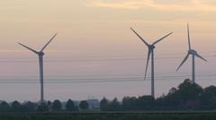 Train and Wind Turbines Stock Footage