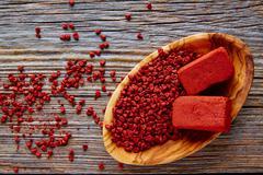 Stock Photo of Achiote seasoning annatto seed Mexico popular