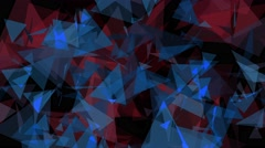 4K Lowpoly Triangles Background Animation 11 Stock Footage