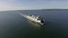 1 Washington State Ferry Across Puget Sound Seattle Washington Stock Footage