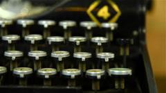 Vintage Typewriter Keys Stock Footage