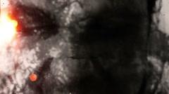 Horror man strobe feedback glitch Stock Footage