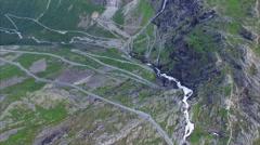 Aerial timelapse of Trollstigen pass road in Norway Stock Footage
