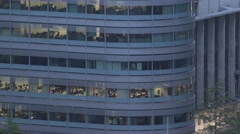 4K Aerial view business office modern building twilight company working place UK - stock footage