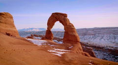 Delicate Arch Traditional Tracking Shot Stock Footage