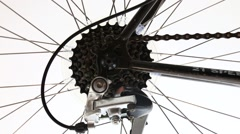 Bicycle gear closeup Stock Footage