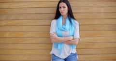 Confident woman with folded arms Stock Footage