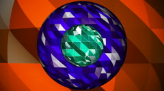 Lowpoly Sphere Shape Abstract Seamless Looping Motion Background Stock Footage