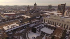 Nashville Snow- City and Buildings - stock footage