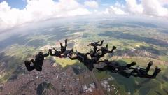 Skydiving separation pov Stock Footage