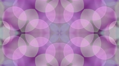 Soft Purple Bokeh Background. Circle Art Animation. 4K Abstract Kaleida Texture - stock footage