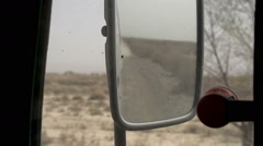 Dusty Road in the Rearview Mirror HD - stock footage