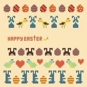 Vector ornament collection of easter items - stock illustration