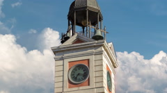 Watch tower on The Old Post Office building timelapse hyperlapse. Located in the Stock Footage