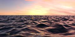 Sunrise Over The Ocean - stock illustration